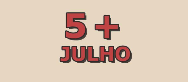 5 artigos mais acessados em julho