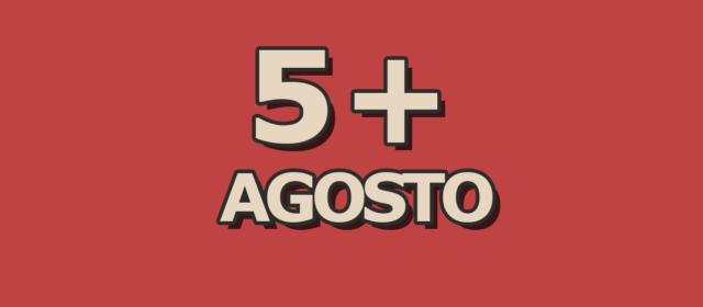 5 artigos mais acessados em agosto