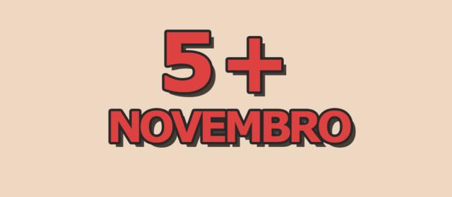 5 artigos mais acessados em novembro
